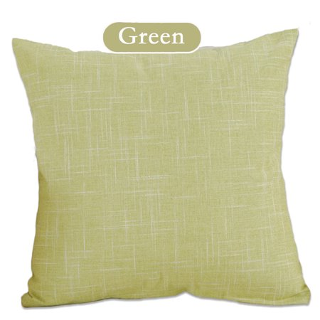 Popeven Cozy Cotton Blend Decorative Throw Pillow Case Cover for Sofa or Living Room Home Decor , 18