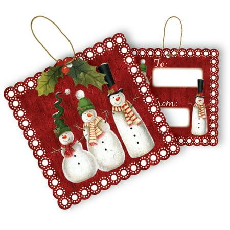 Jillson & Roberts Gift Tags with Tie String, Snowman (100 Pcs) Jillson & Roberts Gift Tags with Tie String, Snowman (100 Pcs)