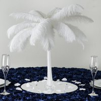 "16"" White Eiffel Tower Wedding Centerpiece Glass Vases Table Decor - 12 PCS"