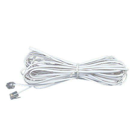 DIY Telephone Cabling RJ11 Connector Cord White 9.9m