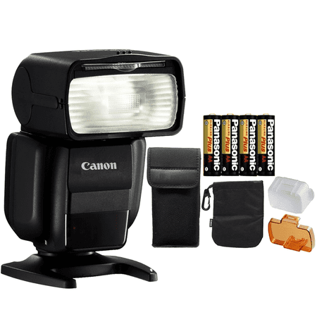 Canon Speedlite 430EX III Flash (Black) + 4 AA Batteries for Canon EO 50D 7D 50D 80D 60D 600D T6 T6i T6s T7i and All Canon Digital SLR