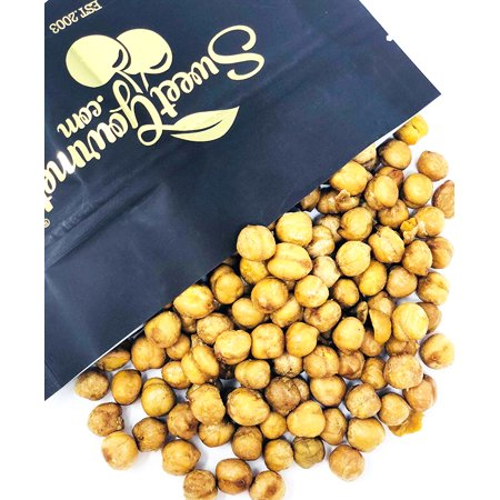 SweetGourmet Roasted & Salted Golden Chickpeas, garbanzo beans - protein snack, gluten free 2 pounds