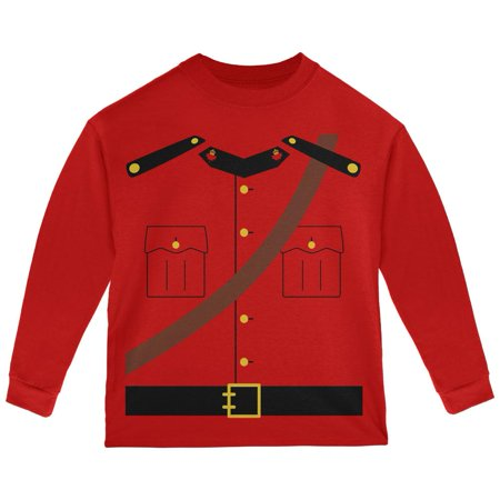 halloween canadian mounty police costume toddler long sleeve t shirt - Canada Halloween