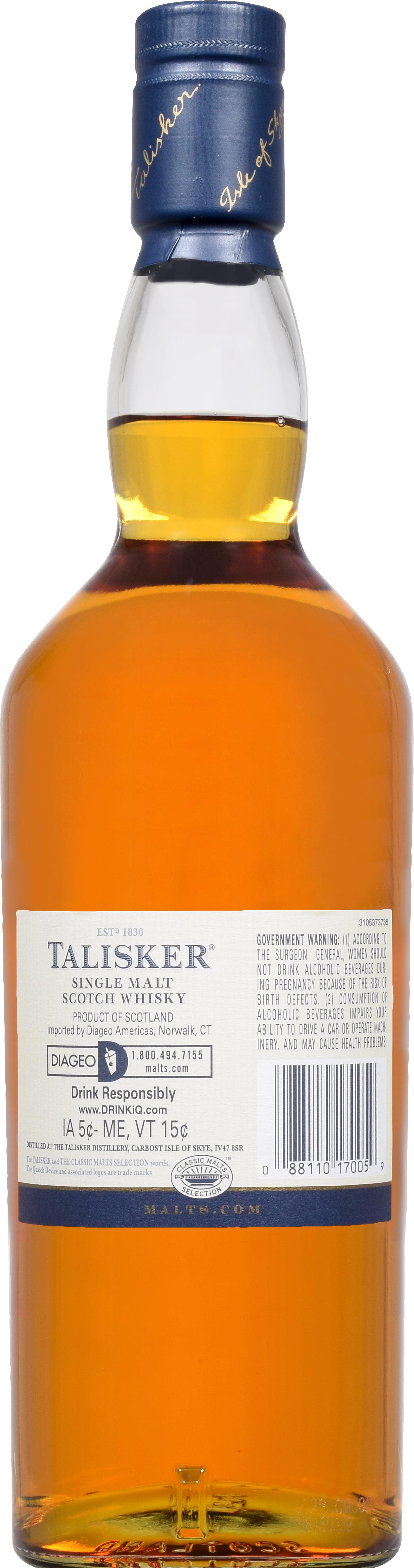 debeb3d56 Talisker Single Malt Scotch Whisky