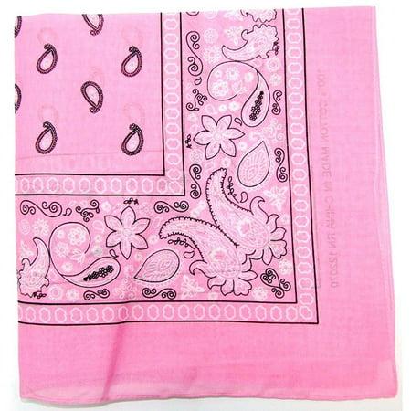 paisley one dozen cowboy bandanas (light pink) (Cowboy Bandanas)