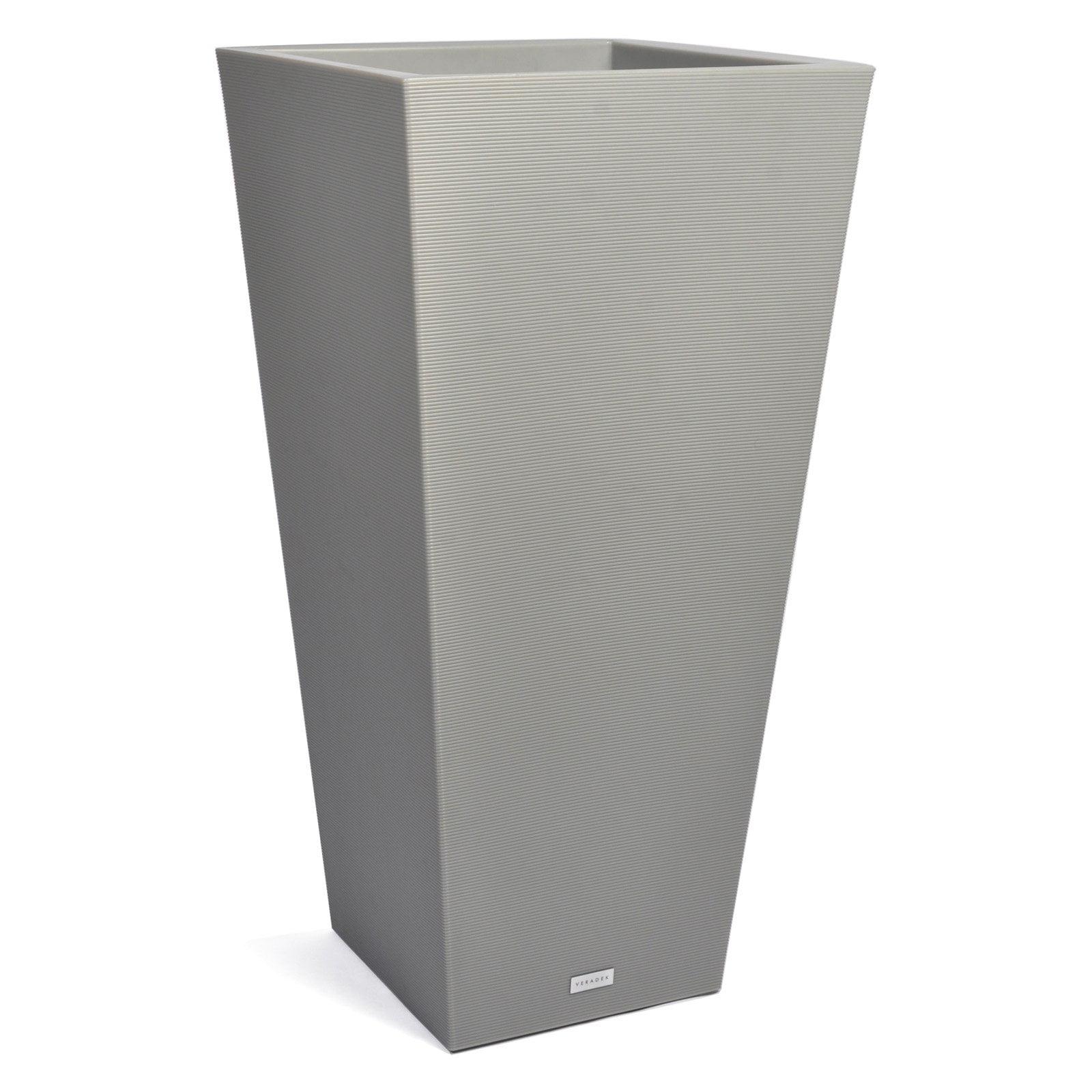 Veradek Pro Series Column 40 in. Grooved Outdoor Square Planter by Veradek Inc