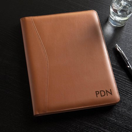 Personalized Or Monogram Leather Padfolio Distressed Leather Padfolio