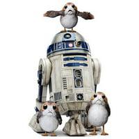 Advanced Graphics 2624 50 x 30 in. Porgs with R2-D2 - Star Wars VIII the Last Jedi