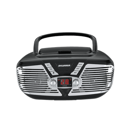 Sylvania SRCD211 Portable CD Boombox with AM/FM Radio, Retro Style, Black](Boo Box Halloween)