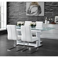 Picket House Furnishings Soho 5PC Dining Set in White-Table & Four Side Chairs