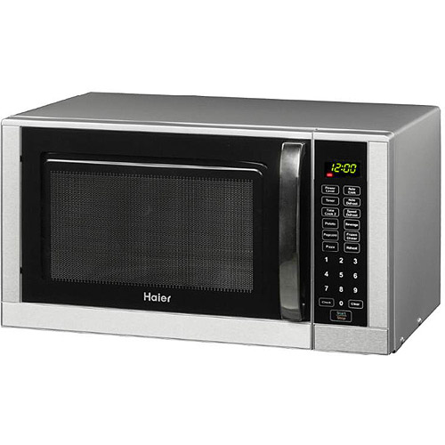 Haier 0.9 cu ft Microwave Oven, Stainless Steel Trim