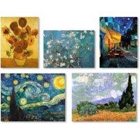 "Trademark Fine Art ""Vincent van Gogh Wall Collection 5 Panel Set"" Canvas Art"