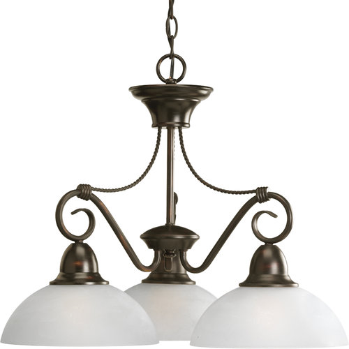 Progress Lighting P4579 Pavilion Three-Light Single-Tier Chandelier with Down Li