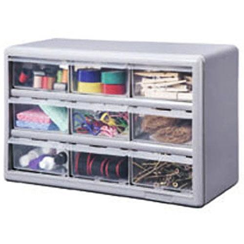 Stack-On 9-Drawer Storage Cabinet, Silver Gray - Walmart.com