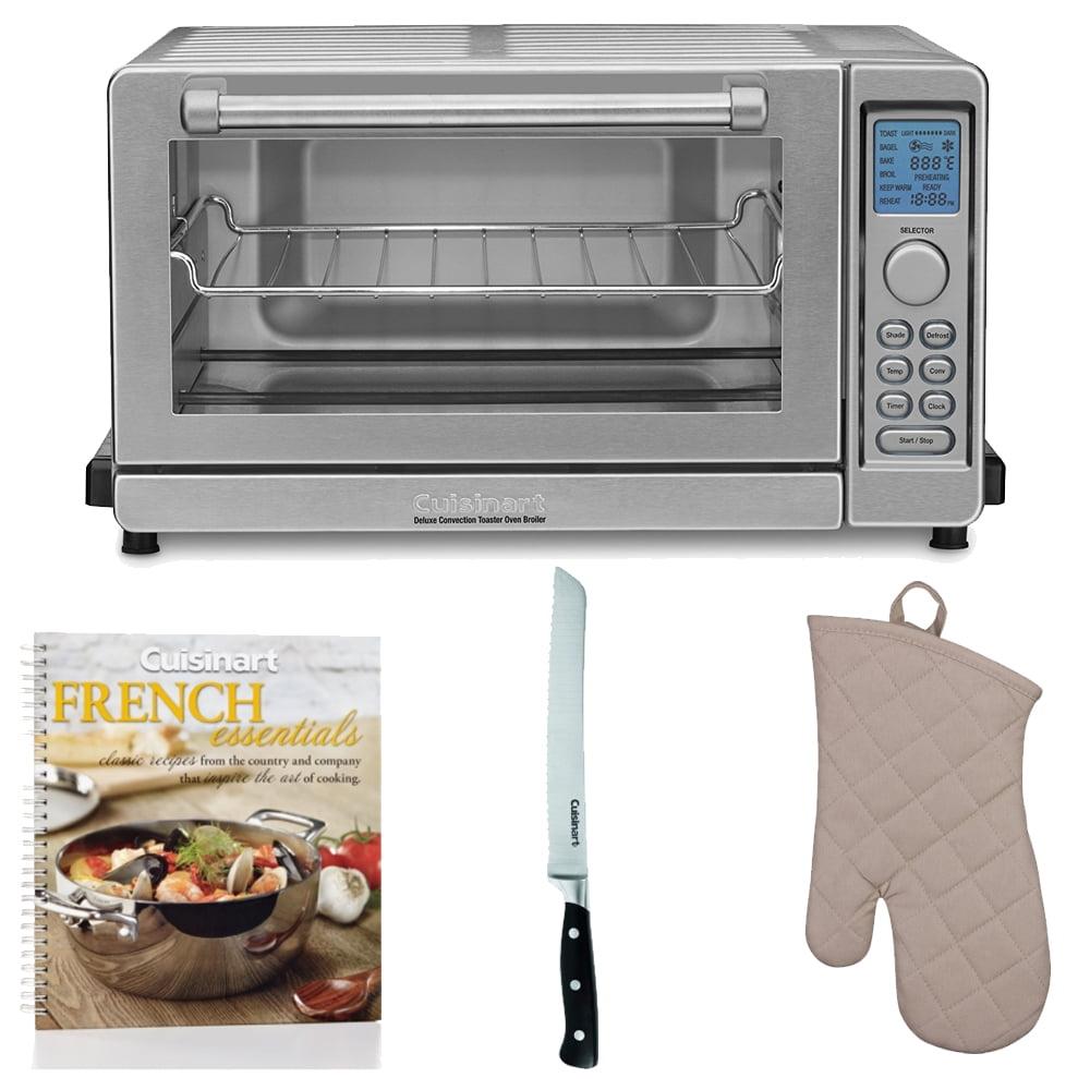 Cuisinart TOB-135 Deluxe Convection Toaster Oven Broiler + Cookbook + Accessory Bundle (Refurbished)