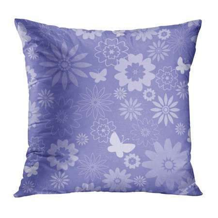 BOSDECO Pattern Floral Global Color for Easy Editing Flower Daisy Geometric Lilac One Pillow Case Pillow Cover 16x16 inch - image 1 of 1