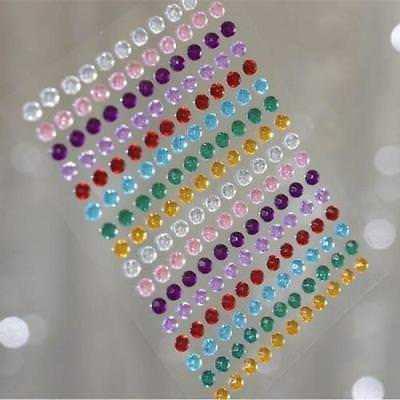1056 Pcs Self Adhesive Rainbow Diamond Crystal DIY Rhinestone Stickers