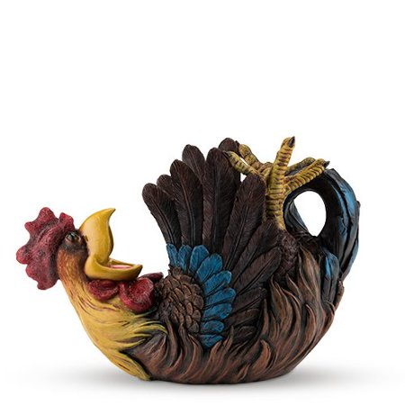 Wine Bottle Holder, Rowdy Rooster Decorative Single Rustic Bottle Holder ()