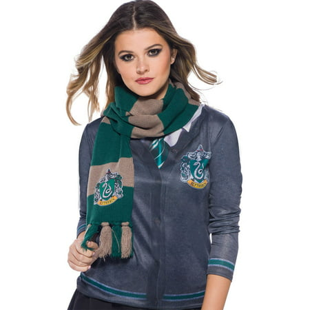 The Wizarding World Of Harry Potter Slytherin Deluxe Scarf Halloween Costume - Wizard Halloween Costume Ideas