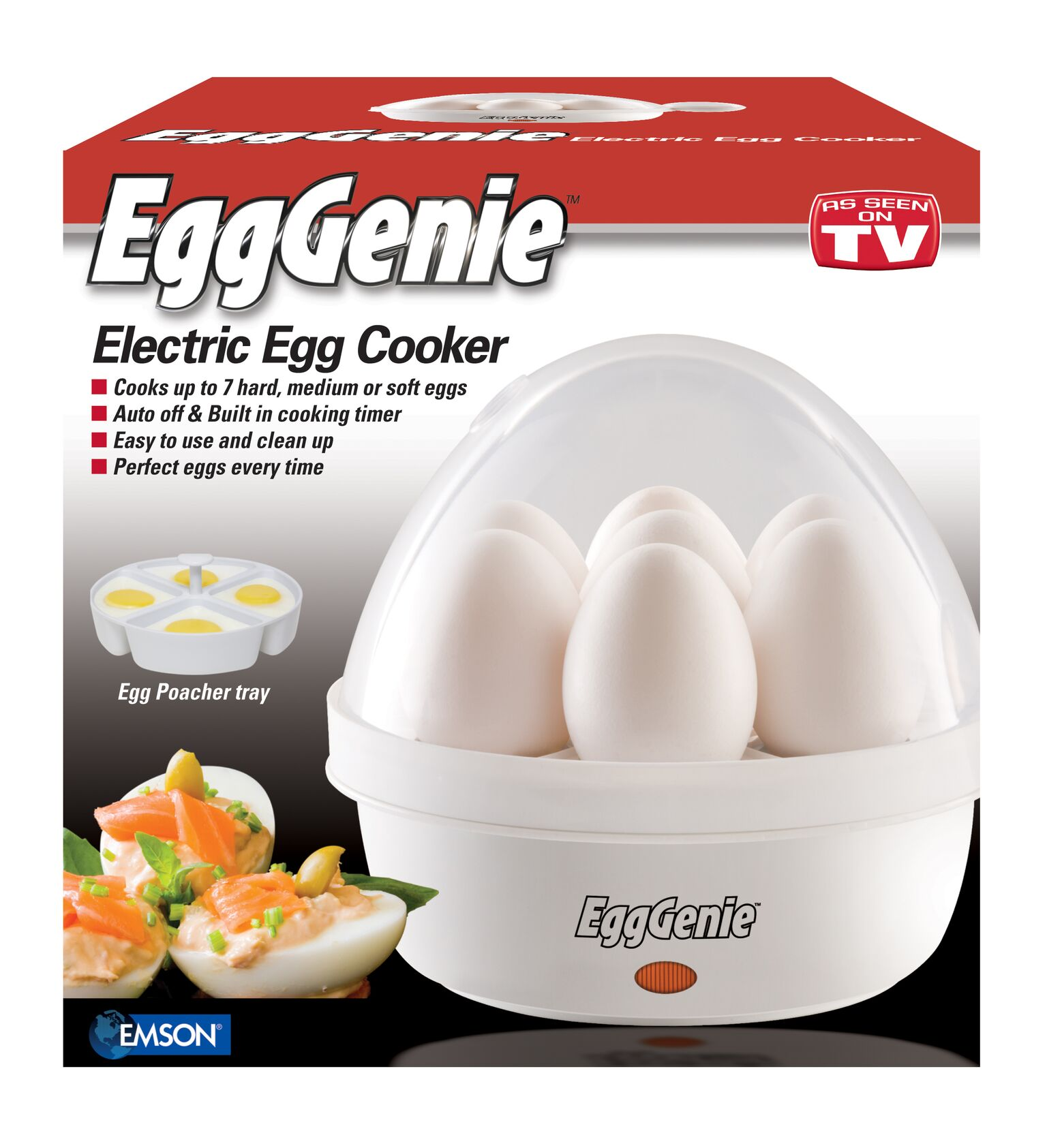 Egg Genie by Big Boss, The Original Rapid Egg Cooker - As Seen on TV