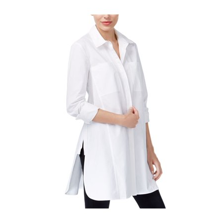 Rachel Roy Womens Solid Button Up Shirt white S - image 1 of 1