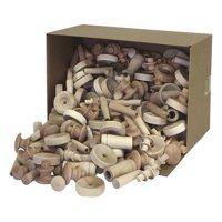 Creativity Street Assorted Wood Pieces and Shapes, 18 Pounds