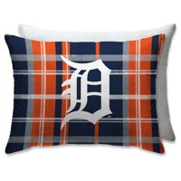 Detroit Tigers Plaid Plush Sherpa Bed Pillow