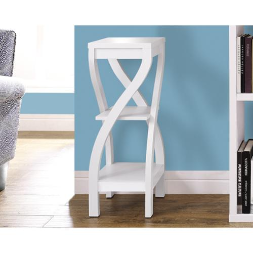 Monarch Specialties White Plant Stand