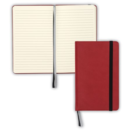 Classic Hardbound Notebook Journal, 5-1/4 x 8-1/4 Inches, Red, 120 Sheets (Leather 3x5 Notebook Cover)
