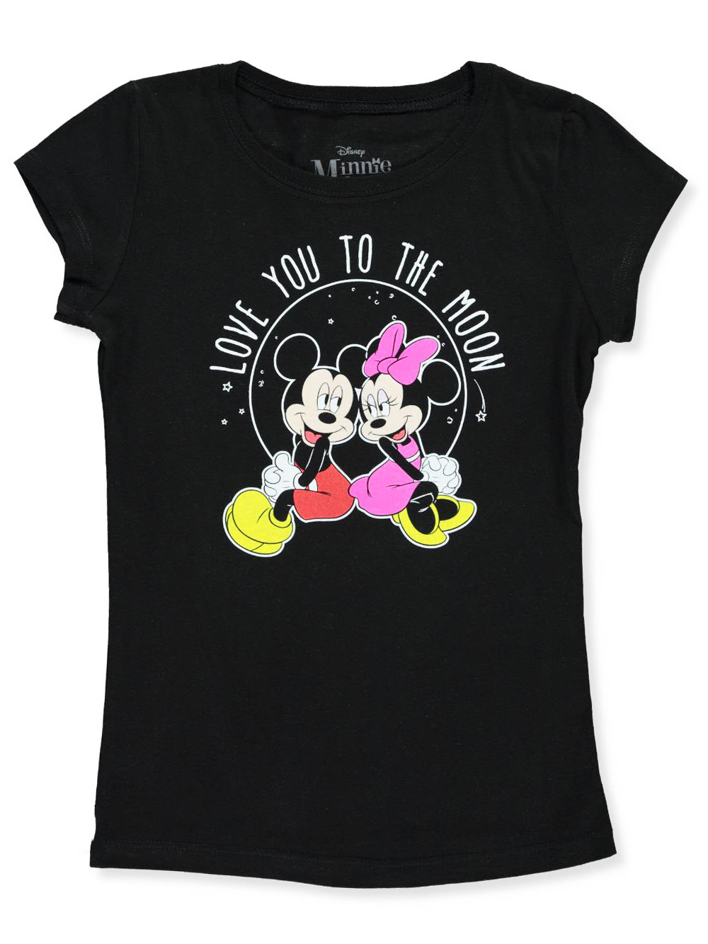 Girls' T-Shirt featuring Minnie & Mickey Mouse