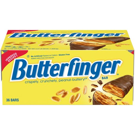 Butterfinger Chocolate Candy Bar, 1.9 Oz 36 Ct