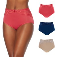 "Rhonda Shear ""Ahh"" Seamless Brief 3-pack with Lace Overlay_586848SE8481"