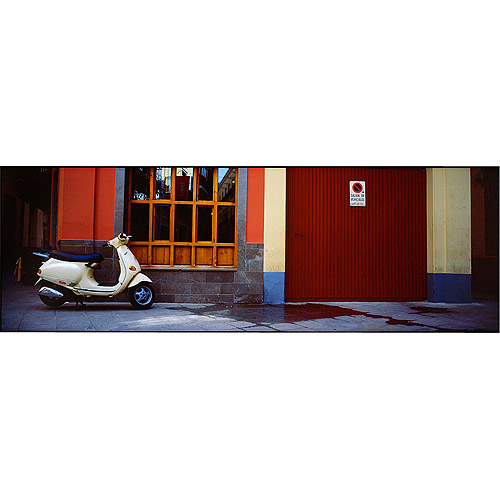 "Trademark Art ""Scooter in Spain"" Canvas Art by Preston"