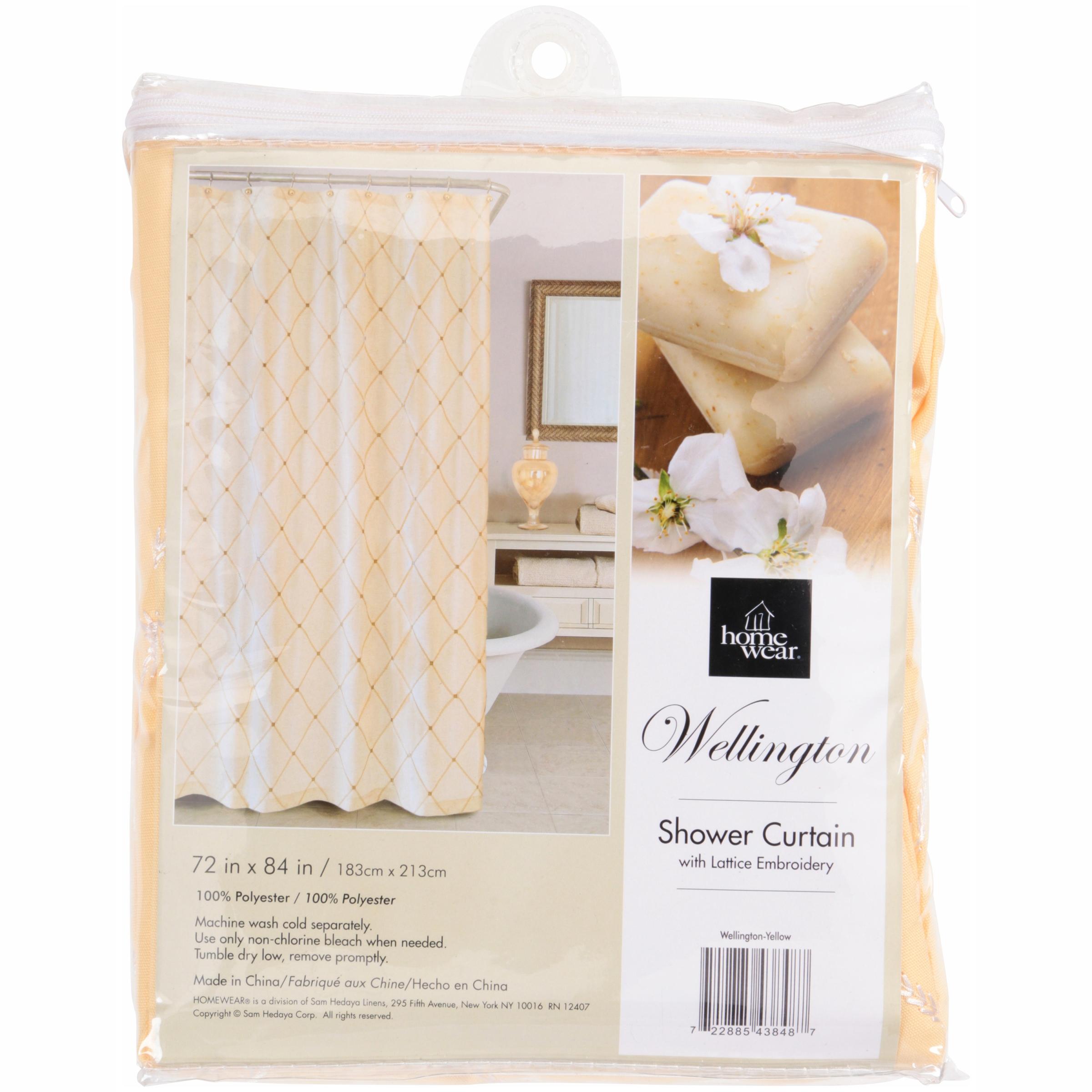 Homewear Wellington Shower Curtain Collection Green
