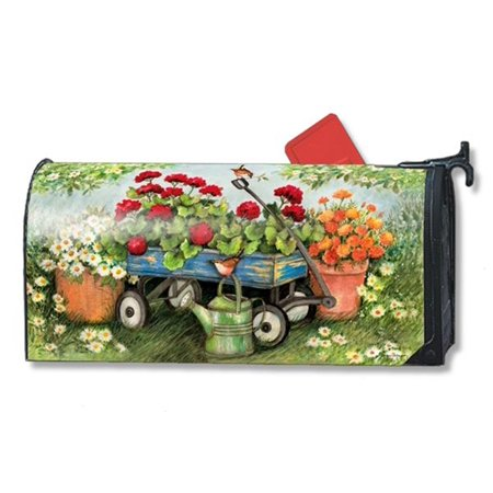Geraniums by the Dozen Summer Magnetic Mailbox Cover Floral Standard MailWraps