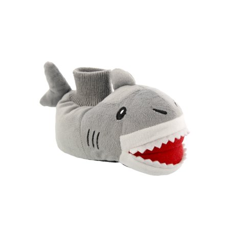 Yankee Toy Box Plush Shark Fish Toddler Boys Sock Top Slippers 84005](The Glass Slipper Boston)