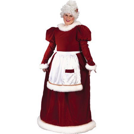 Velvet Plus Size Mrs Claus Costume Walmart