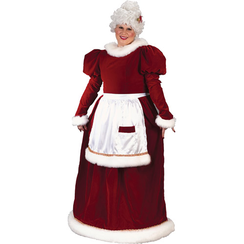 Velvet Plus Size Mrs. Claus Costume