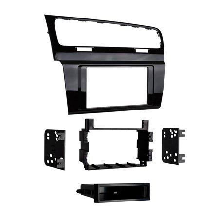 99-9013HG Single/Double DIN Dash Kit for 2015 - Volkswagen Golf (High Gloss Black), Installation Dash Kit for Single or Double DIN Head units For 2015 - Up.., By