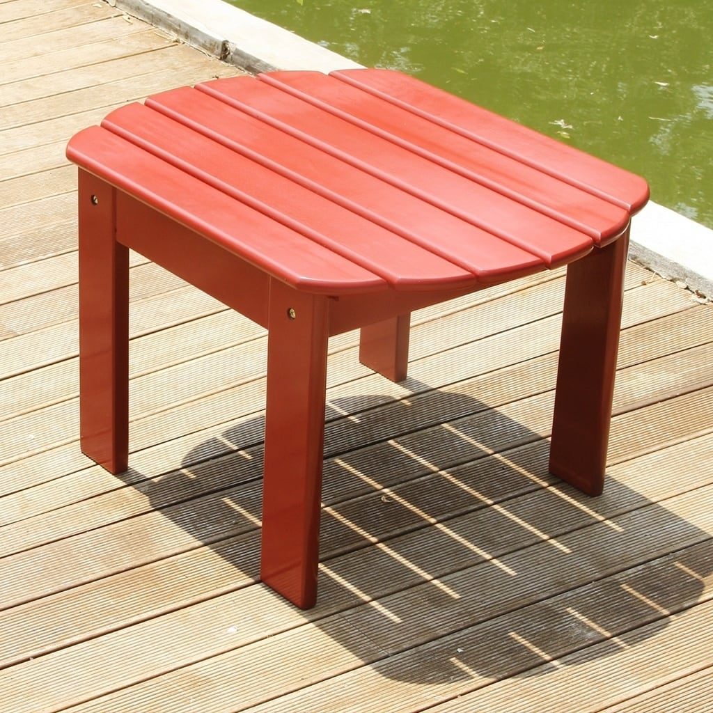 Cambridge Casual  Alston Mahogany Adirondack Side Table Red