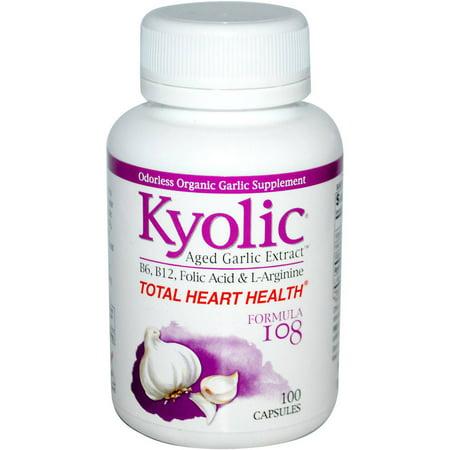 Kyolic Extrait d'ail vieilli total Coeur Santé Capsules, 100 CT