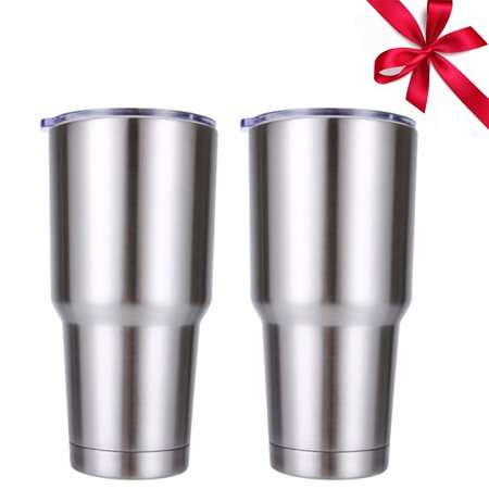 Back to School 2PACK 30 oz Stainless Steel Vacuum Insulated Tumbler with Lid Great For Ice Drink, Hot Beverage (Insulated Hot Beverage)