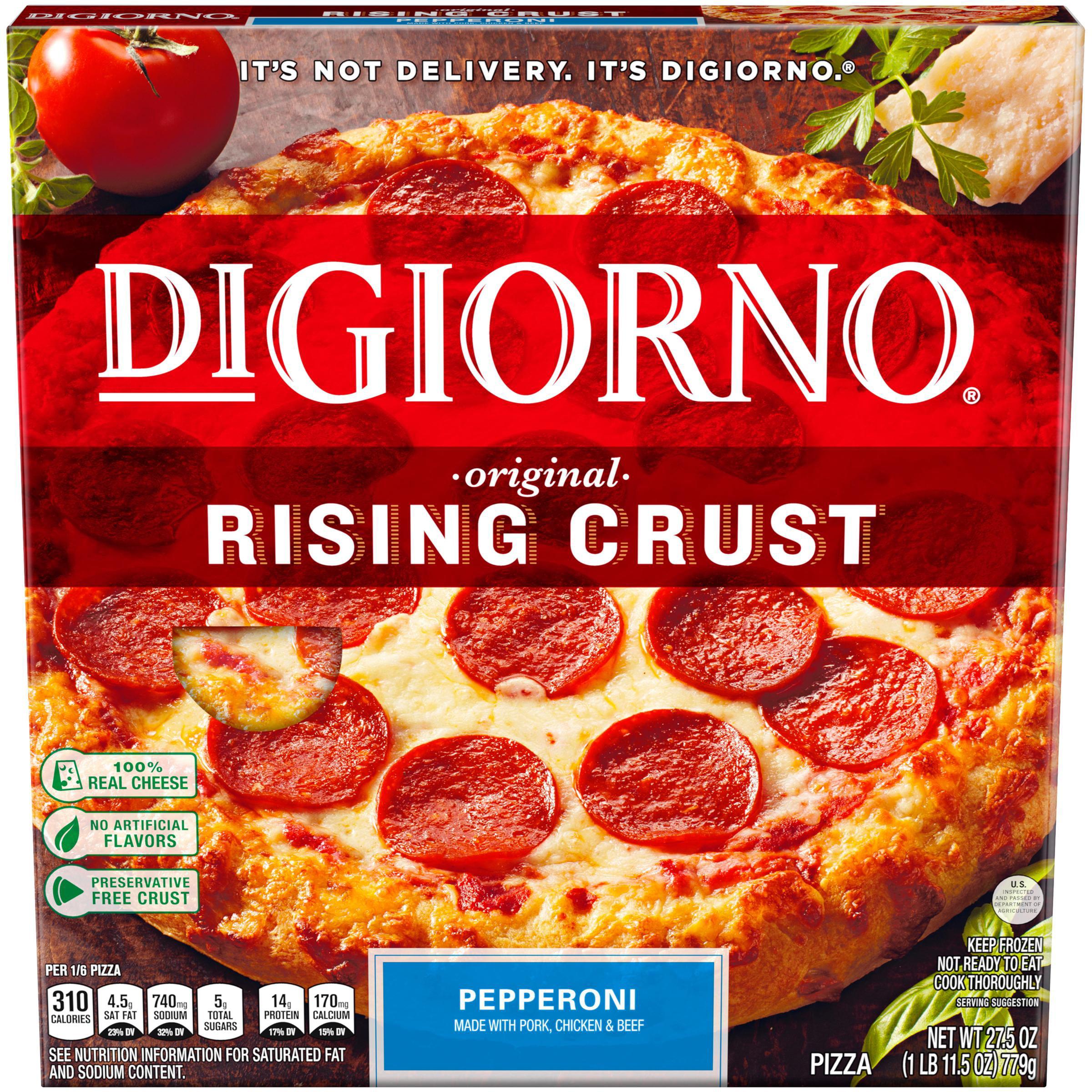 digiorno original rising crust pepperoni frozen pizza 27.5 oz. box