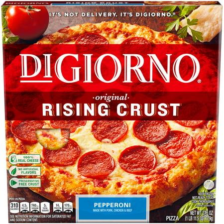 digiorno original rising crust pepperoni frozen pizza 27 5 oz box