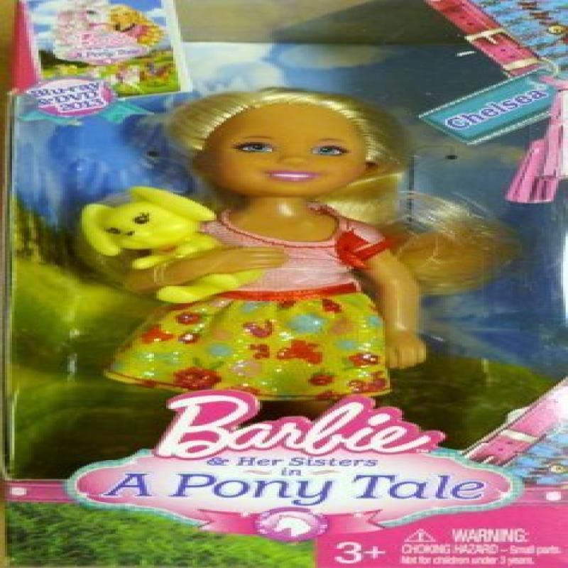 """5"""" Chelsea & Her Yellow Bunny Rabbit from """"Barbie in A Pony Tale"""" by Mattel by"""