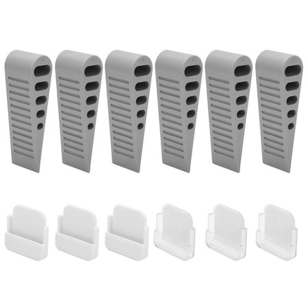 Flexibility Rubber Door Stopper with 6 Pcs Door Stops, Abrasion Resistant Door Wedge, Door Stops Abrasion Resistant Rubber