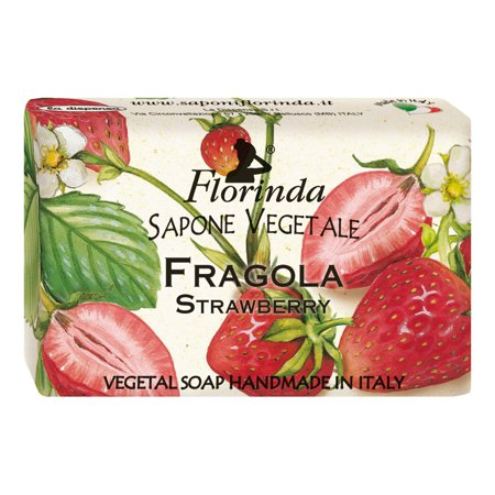 Florinda Fruits Strawberry Vegetal Soap Bar 50g 1.76oz (Strawberry Soap Bar)