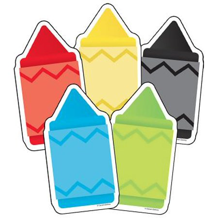 COLORFUL CUTOUTS CHUNKY CRAYONS ASSORTED DESIGNS (Carson Dellosa Crayons)