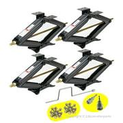 "Set of 4 LIBRA 5000 lb 24"" RV Trailer Stabilizer Leveling Scissor Jacks w/handle & Power Drill Sockets & Mounting hardwares"