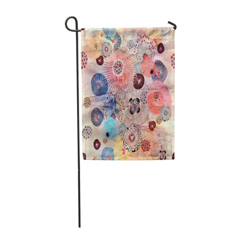 JSDART Watercolor Water Bright Abstract Floral Pattern on Creased Colorful Color Garden Flag Decorative Flag House Banner 28x40 inch - image 1 of 1